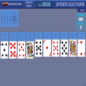 Spider Solitaire - 1, 2, 4 Suits with Timer
